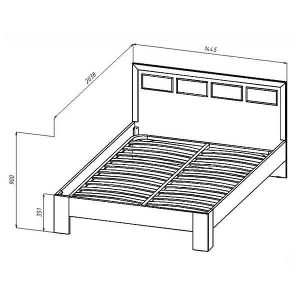 Кровать 1400 Венеция размеры