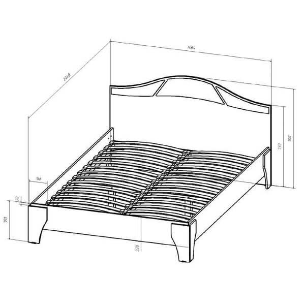 Кровать 1400 Верона размеры венге дуб молочный