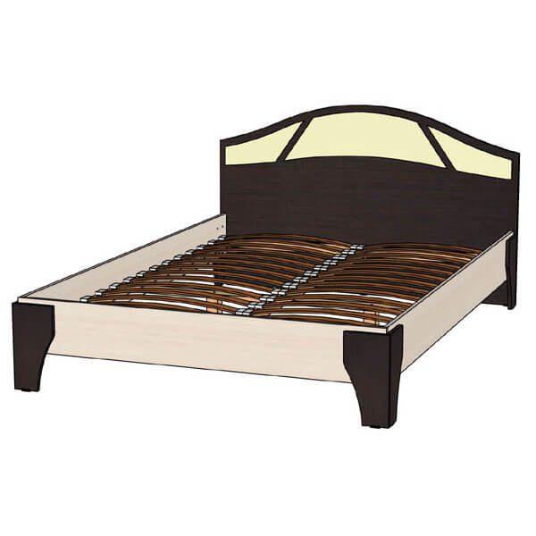 Кровать 1400 Верона венге дуб молочный