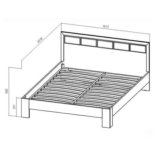 Кровать 1600 Венеция размеры