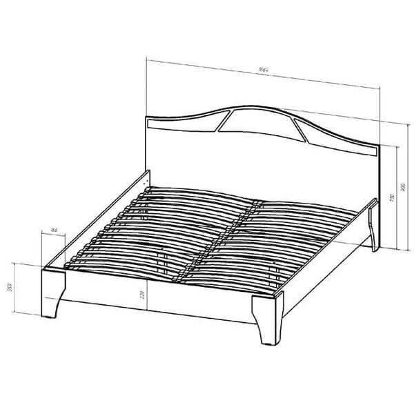 Кровать 1600 Верона размеры венге дуб молочный
