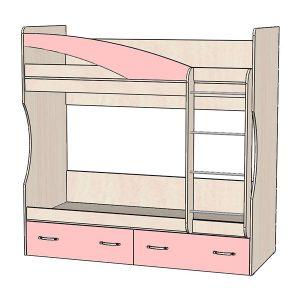 Кровать 2х ярусная розовая