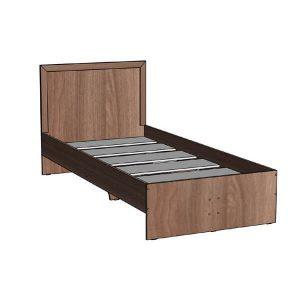 Кровать 900 Соната Ясень Шимо тёмный