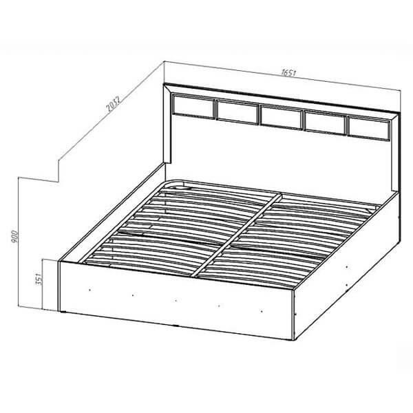 Кровать с подъемным механизмом Венеция размеры