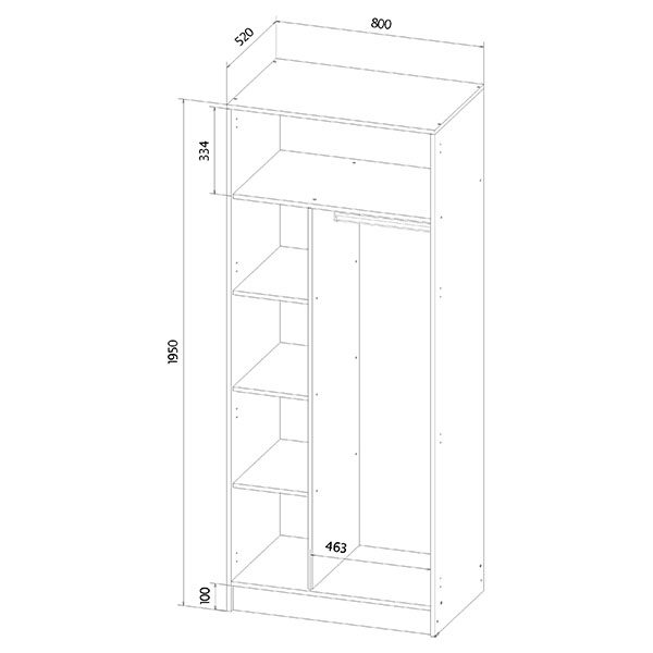 Шкаф для одежды размеры