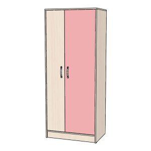 Шкаф для одежды розовый