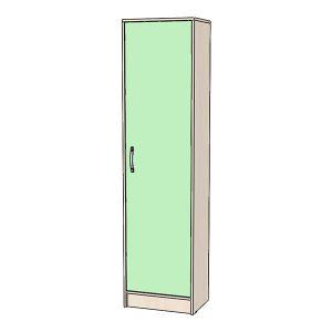 Шкаф-пенал зелёный