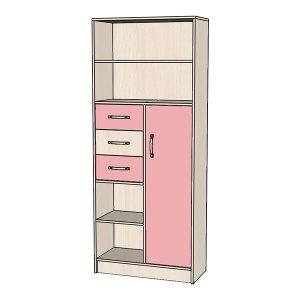 Шкаф-стеллаж розовый