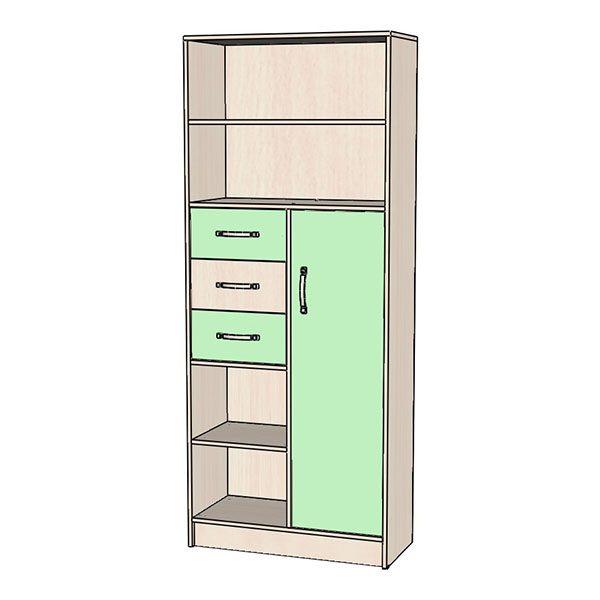 Шкаф-стеллаж зелёный