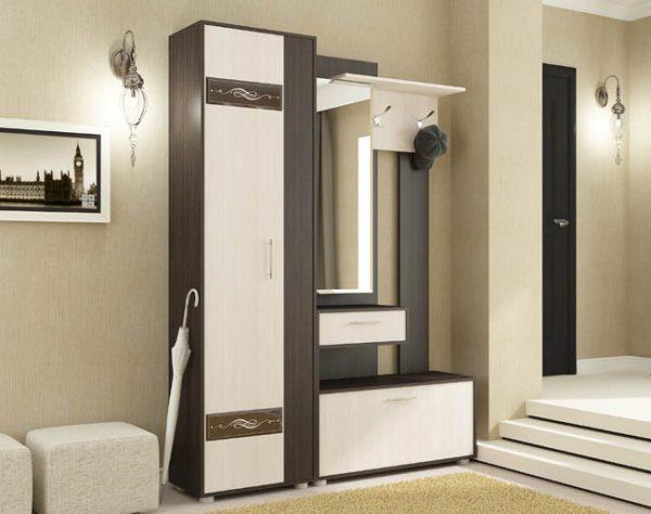Секция с зеркалом и шкаф пенал - Инфинити 2